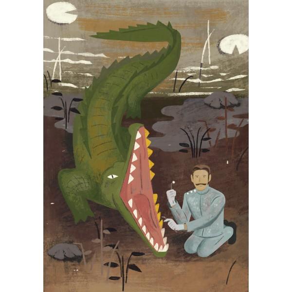 鑲金牙的鱷魚:經典文學故事選